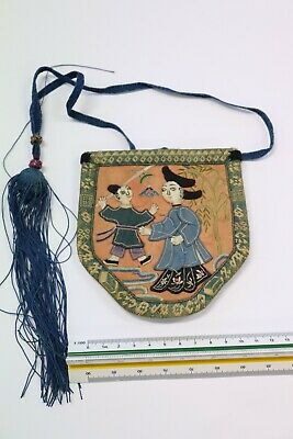 Antique Chinese EMBROIDERED Purse - No 9