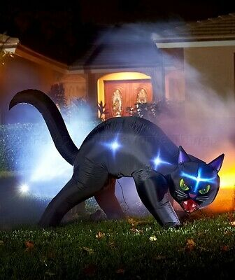 Black Cat Halloween Lighted Inflatable Yard Lawn Outdoor Home Decor