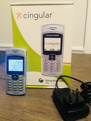 Vintage Cingular Cell Phone Sony Ericsson T226 Complete w Box + Charger + Manual