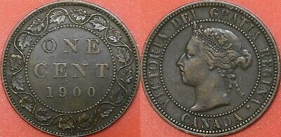 Very Fine 1900H Canada Large 1 Cent