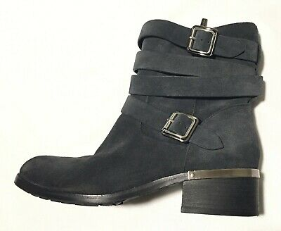 bd351477101 VINCE CAMUTO SUEDE VC-Webey Zipper Buckle Women's Leather Short Boots Sz  10M EUC