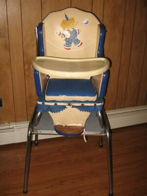 ~Vintage 1950s~Babyhood CONVERTIBLE High Chair & Table~Wonda-Chair~Elephant~CUTE