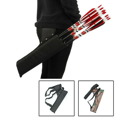 Portable 2//3 Tube Archery Arrow Quiver Clip Hip Waist Holder Bag Bow Hunting IE