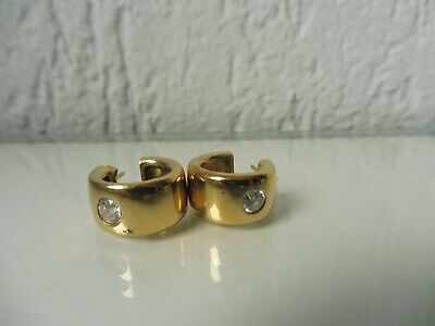 Beautiful, Old Earrings _ Studs __925 Silver Gold Plated with Polished Stones