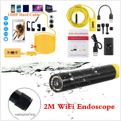 Waterproof 1200P WIFI Endoscope 8LED WiFi Inspection HD Camera For iOS Android