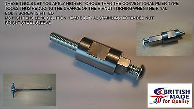 M6 Engineers Heavy Duty High Tensile (10.9) Rivnut Rivet Nut Nutsert Tool