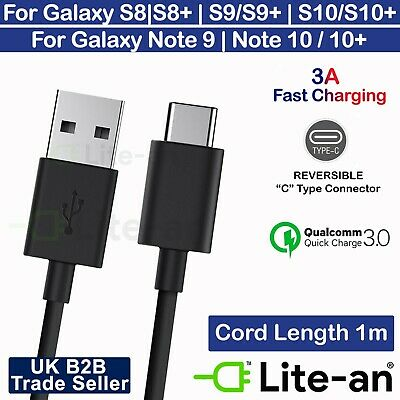 For Samsung Galaxy S8 S9 S10+ Plus Type C USB-C Data Charging Cable Fast Charger