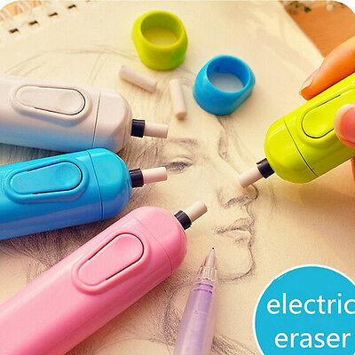 Electric Eraser School Supplies Automatic Derwent Battery Leather Stationery1pcs