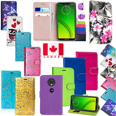For Motorola Moto G7 G7 Play G7 Power PU Leather Wallet Flip Stand Case Cover