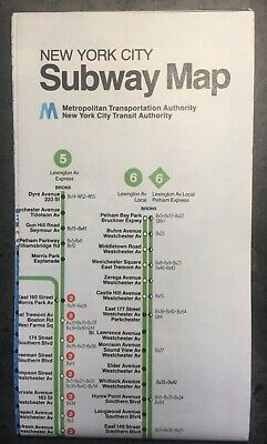 1980 Nyc Subway Map.Vintage 1979 Fall 1980 Revision New York City Subway Map 15 50