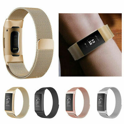 Replacement Milanese Band Metal Stainless Steel Magnet Strap For Fitbit Charge 3