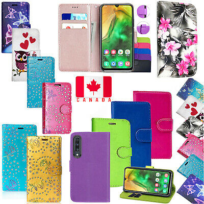 Samsung Galaxy A20 A30 A50 Shockproof PU Leather Wallet Flip Stand Case Cover