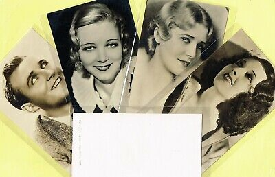 FILM WEEKLY ☆ Film Stars ☆ 1933 Postcard Size Cards (A to C)