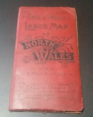 Gall & Inglis large map of North Wales