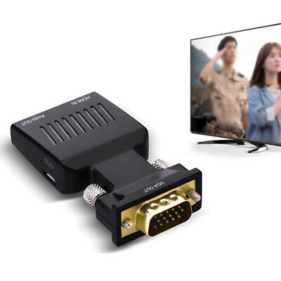 VGA To HDMI 1080P HD AV Converters HDTV Audio Video Cable Adapter For PC DVD STB