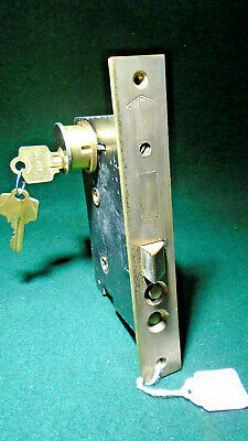 CHESLER MODEL 'A' ENTRY MORTISE LOCK w/CYLINDER & KEYS:  RECONDITIONED (10978)