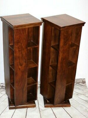 Pair of Vintage Rosewood Revolving Bookcase - FREE Shipping [5418]