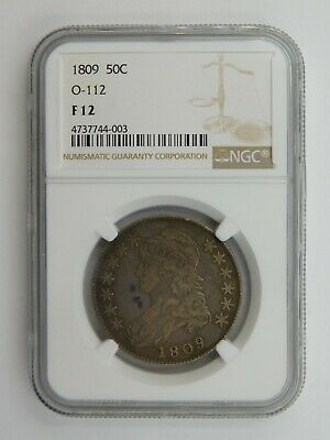 1809 Capped Bust Half Dollar O-112 NGC Graded F 12 (129)