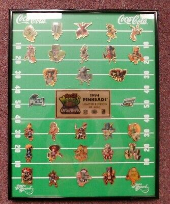 Coca Cola 1994 Limited Edition of the Gridiron 31 Count Pin Set #1416 of 3000