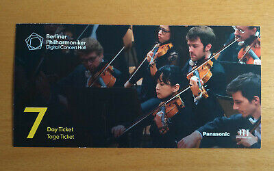 7 Tage Ticket Day Ticket Berliner Philharmoniker Digital Concert Hall Gutschein