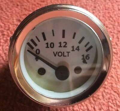 New  Voltmeter Gauge 52 MM Diameter-White Face