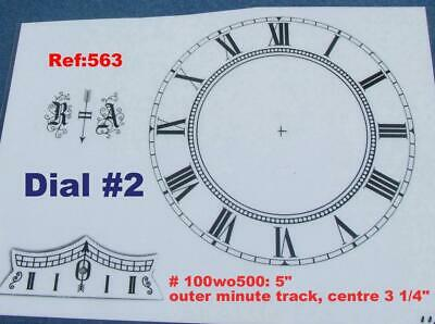 Ref: 563b - Replacement Vienna Wall Clock Dial set 5 inch or 127mm max od