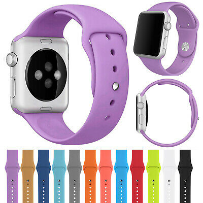 Silicone Strap Bracelet Sport Watch Band For Apple iWatch Series 4 1 2 3 38/42mm
