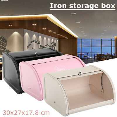 Baking Bread Iron Box Storage Pastry Bin Roll Loaf Cake Food Kitchen Container