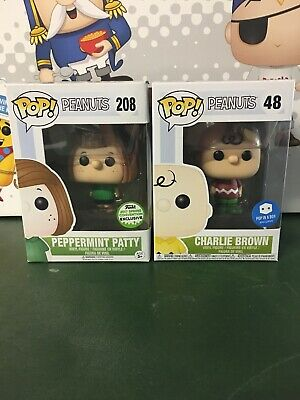 Assorted Peanuts Funko POP!-Lot Of 2 (Charlie Brown, Peppermint Patty)