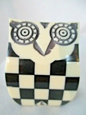 1 NEW, Mackenzie Childs OWL KNOB - COURTLY CHECK - Rare! Retired!