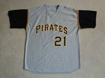cheap for discount 1f3d8 53e64 MLB PITTSBURGH PIRATES Roberto Clemente #21 Gray Baseball Jersey - Size XL