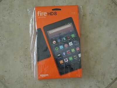 Amazon Fire HD 8 Tablet , 16 GB - BLACK , BRAND NEW SEALED