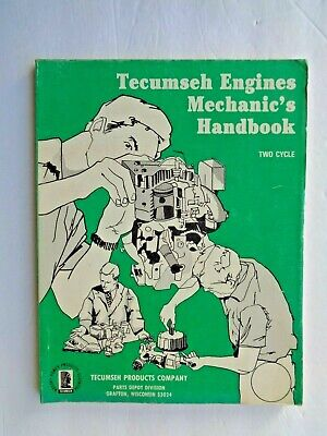 1970's-80' TECUMSEH TWO CYCLE ENGINES MECHANICS HANDBOOK / SERVICE MANUAL