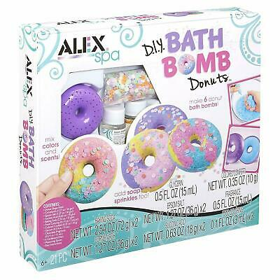 ALEX Spa DIY Bath Bomb Donuts Kit Ingredients & Molds kids Fun Activities Toys