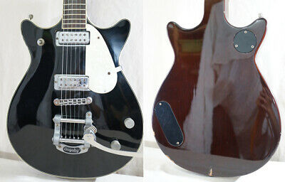 Used 2004 GRETSCH ELECTROMATIC G5245T Double Jet Black Electric Guitar Bigsby