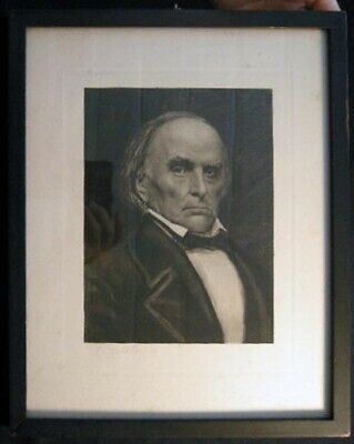 Daniel Webster Framed & Glazed Portrait