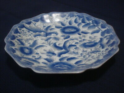 """9"""" antique Chinese blue and white porcelain plates."""
