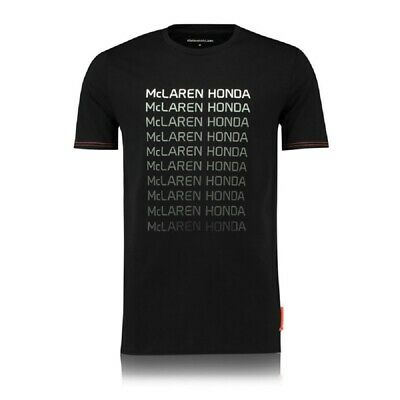 T-SHIRT McLaren Honda Team Repeat Mens Formula One 1 F1 Vandoorne Alonso New
