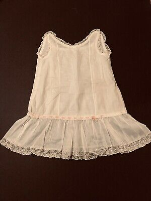 Antique Little Girls Lace And Ribbon Slip Petticoat From 1920s