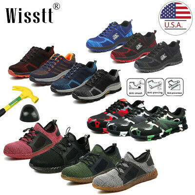 Mens Indestructible Bulletproof Work Safety Shoes Steel Toe Midsole Hiking Boots