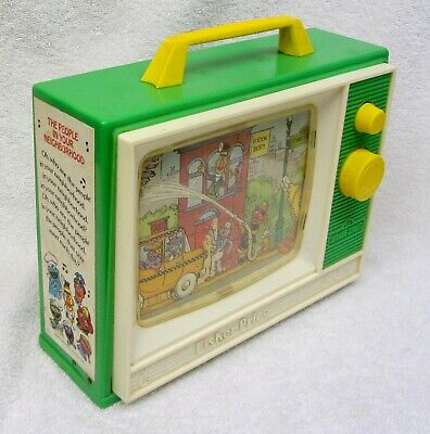 MYKIDS TOY MFG  child scrolling picture music box 1985 vtg