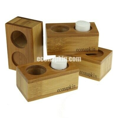 4 x Bamboo Single Econapkin Holders