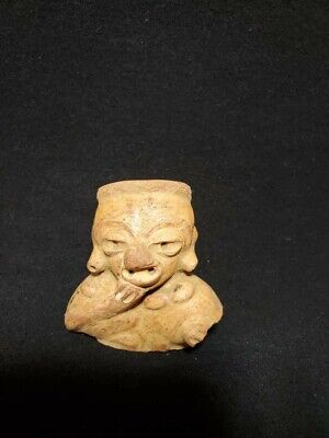 Pre-Columbian Mayan figure fragment from Guatemala. Ca. 650 ad.