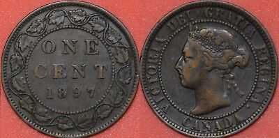 Very Fine 1897 Canada Large 1 Cent