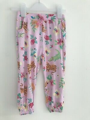 Girls Trousers TU Clothing Pink Animals Age 2 - 3 Years Summer Holidays