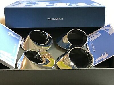 Wedgwood 4 Rond De Serviette Twist Napkin Rings England Serial Limited
