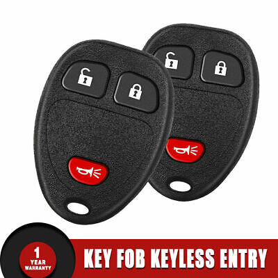 2 OEM 22733524 Remote Control Keyless Entry Car Key Fob 5 Button For Buick Chevy