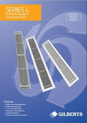 Gilberts Series L Fineline Linear Strip Grilles