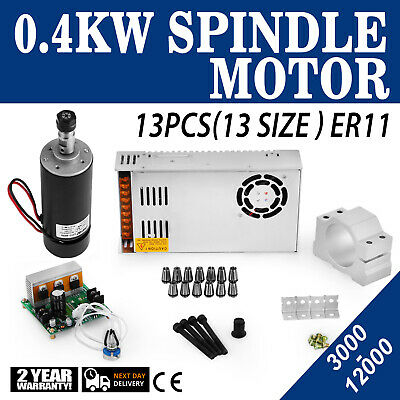CNC SPINDLE MOTOR 400W ER11 3 175mm & Mach3 PWM Speed Controller +