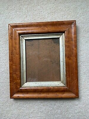 Antique Birds Eye Maple Picture Frame 1850- 1900 Nice Example